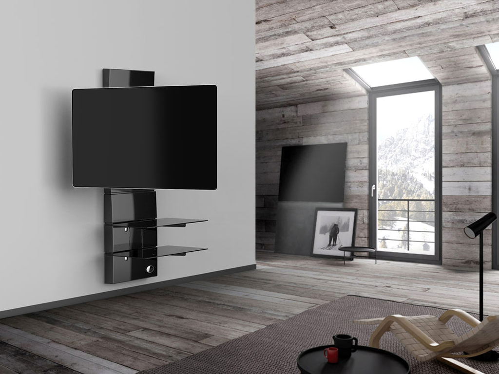 comment choisir son support murale tv en fonction de sa t l. Black Bedroom Furniture Sets. Home Design Ideas