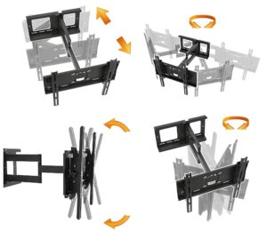 RICOO Support TV Mural orientable inclinable